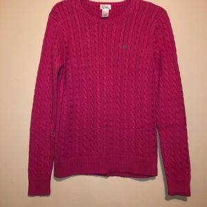 Lilly Pulitzer CableKnit Hot Pink Magenta Sweater